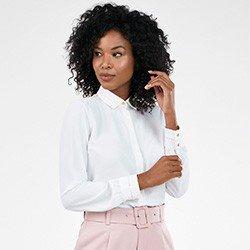camisa feminina off white manga longa priscila frente mini