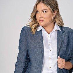 camisa branca plus size com mangas bufantes elmira mini