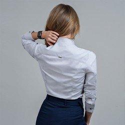 camisa feminina monograma cinza myrthes mini