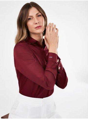 camisa premium personalizada com abotoadura lydia