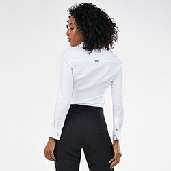 camisa branca feminina nannie mini