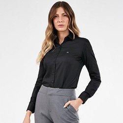 camisa social preta personalizada charlie mini