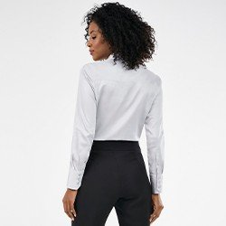 camisa feminina social monograma cinza harper mini