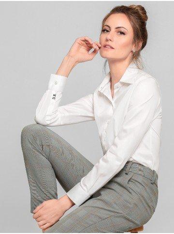 camisa social feminina manga longa ava