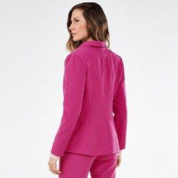 blazer feminino fucsia rosalia mini