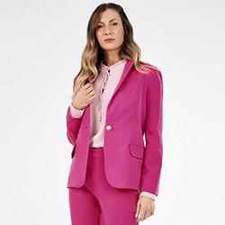 blazer feminino pink rosalia mini