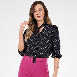 blusa com estampa geometrica ruana mini