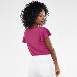 blusa feminina decote v rosemerie mini