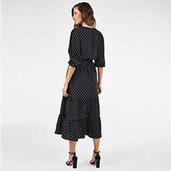 vestido midi com estampa geometrica rosilene mini