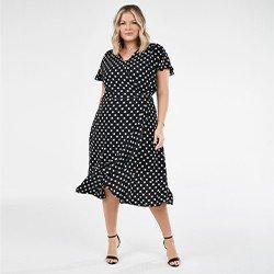 vestido plus size manga curta raisamini