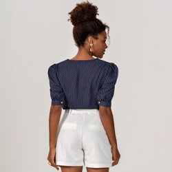 blusa estampa de poa seleny mini