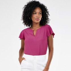 blusa feminina manga curta rosemerie mini