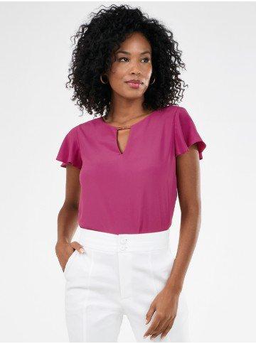 blusa feminina manga curta rosemerie