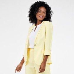 blazer amarelo com martingale salete mini