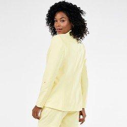 blazer amarelo de alfaiataria com martingale salete mini