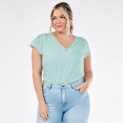 blusa feminina plus size stefania mini