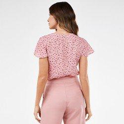 blusa feminina com estampa floral selma mini