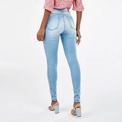 calca jeans azul claro sirlene mini