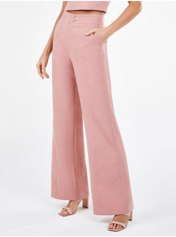 calca pantalona de alfaiataria rosa spencer