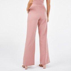 calca pantalona de alfaiataria rosa spencer mini