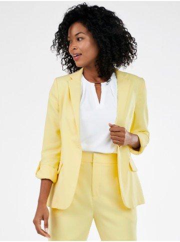 blazer de alfaiataria amarelo salete