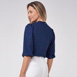 blusa com decote em v talita mini