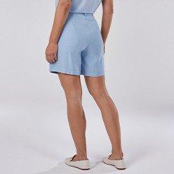 bermuda feminina de alfaiatria azul claro tammy mini