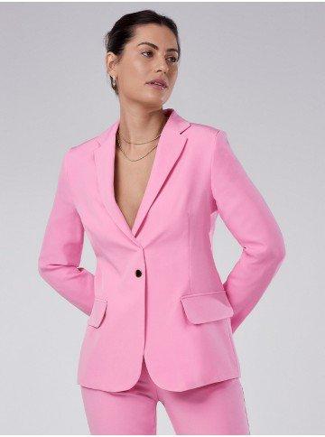 blazer feminino de alfaiataria rosa taeme