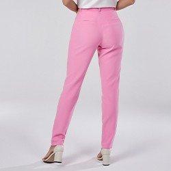 calca social de alfaiataria rosa tamara mini