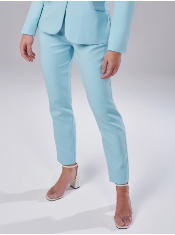 calca de alfaiataria azul