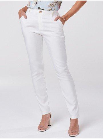 calca de alfaiataria reta off white delany