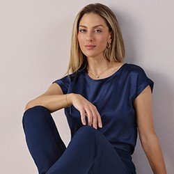 blusa azul marinho sem cava vilma mini