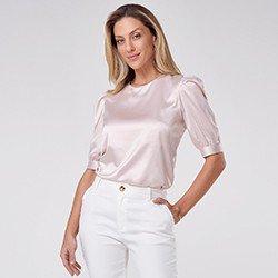 blusa feminina rose valci mini