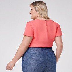 blusa feminina plus size valdirene mini