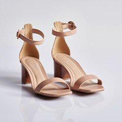 sandalia nude salto bloco elimara