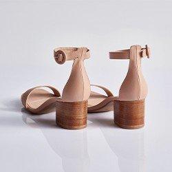 sandalia nude elimara