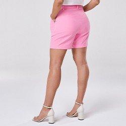bermuda de alfaiataria rosa tarsila mini