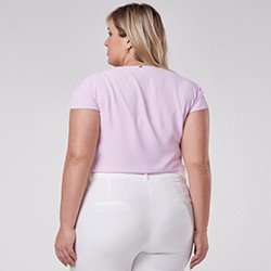 blusa decote plus size gota rosa zoe mini