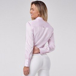 camisa manga longa com renda zaya mini