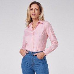 camisa social rosa janara mini