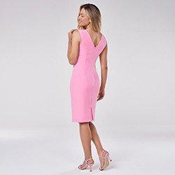 vestido tubinho rosa chiclete zenaide