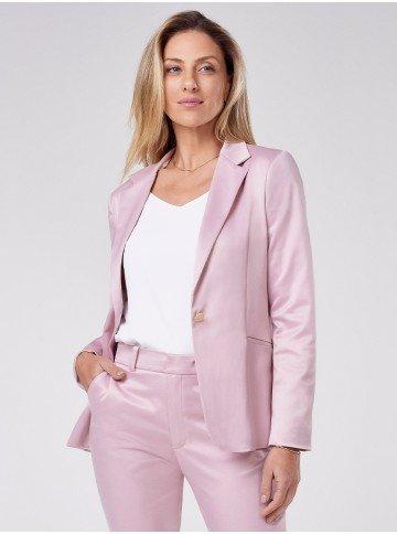 blazer classico rosa de alfaiataria miuyki