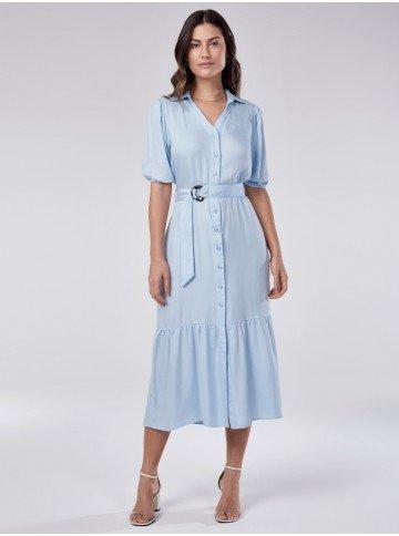 vestido chemise azul bettany