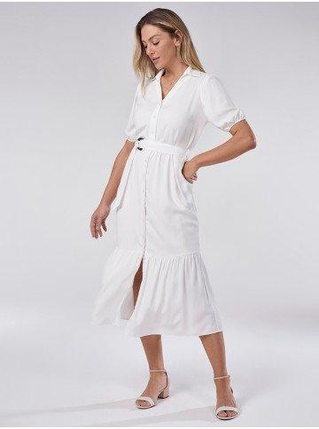 vestido branco chemise brigitte