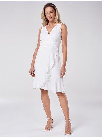 vestido branco com babados belarmina