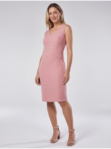 vestido tubinho rose belinda